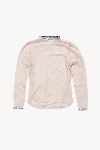 Monogram Mesh Long Sleeve Top