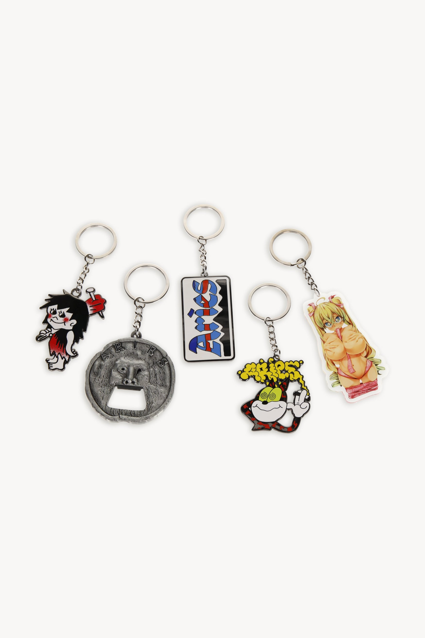 Load image into Gallery viewer, Smoking Cat Keyring