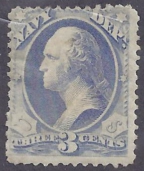 Scott #037 Mint HR OG Fine