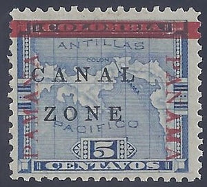 Canal Zone scott #12 Mint LH OG VF