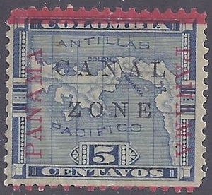 Canal Zone scott #12 Mint NH OG VF