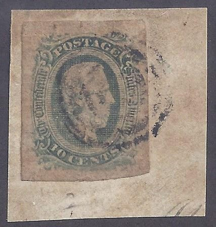 CSA Scott #12C Used Fine on piece of cover