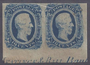 CSA Scott #12D Imprint Pair Mint NH OG F-VF