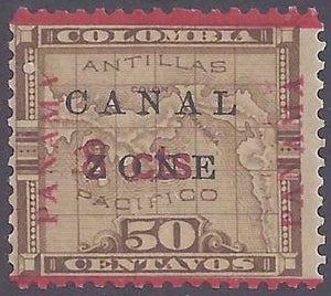 Canal Zone scott #19 Mint LH OG VF