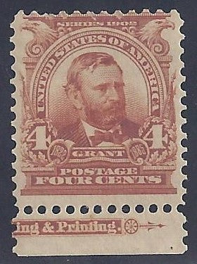 Scott #303 Mint, with imprint PH OG VF