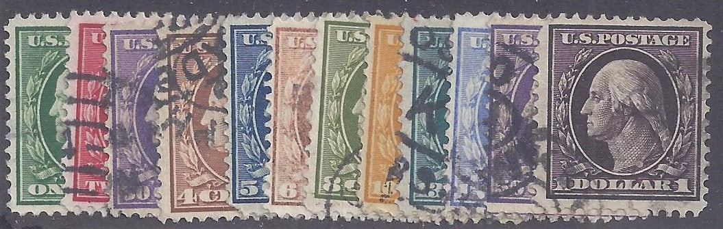 Scott #331-42 Used complete set