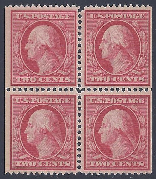 Scott #332A Mint  block of four NH OG F-VF Booklet Pane
