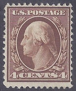 Scott #334 Mint NH OG F-VF