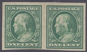 Scott #343 Mint pair LH OG F-VF