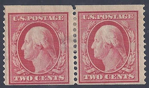 Scott #353 Mint  pair APS certified LH OG F-VF