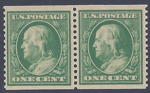 Scott #387 Mint pair NH Very Fine