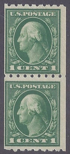 Scott #410 Mint vertical pair NH OG F-VF