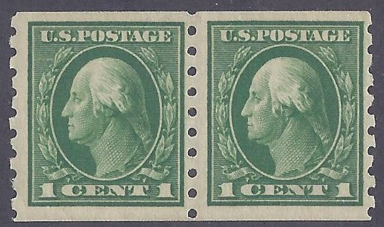 Scott #412 Mint pair NH OG F-VF