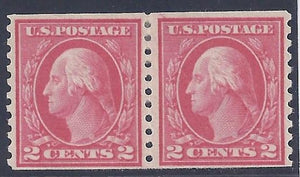 Scott #444 Mint Pair LH OG VF