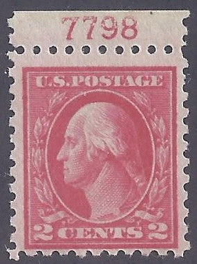 Scott #463 Mint NH OG F-VF with plate #