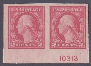 Scott #482 Mint Pair with Plate # NH DG VF