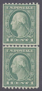 Scott #486 Mint Line Pair NH OG F-VF