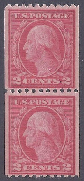 Scott #487 Mint Pair NH OG VF type II