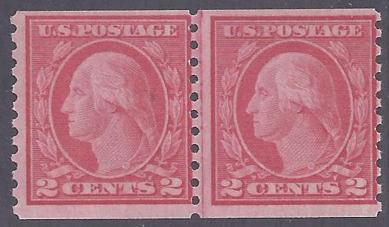 Scott #492 Mint Line Pair NH OG F-VF