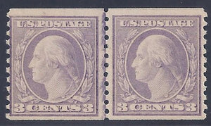 Scott #493 Mint Line Pair LH OG F-VF