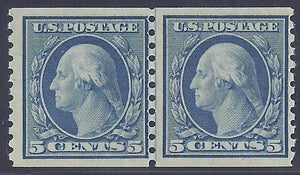 Scott #496 Mint Line Pair NH OG F-VF