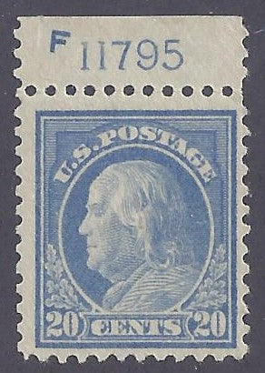 Scott #515 Mint NH OG VF with Plate #
