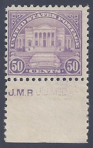 Scott #570 Mint NH OG F-VF with imprint