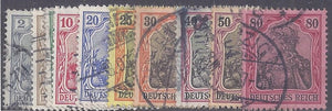 Germany scott #65c-74 Used complete set