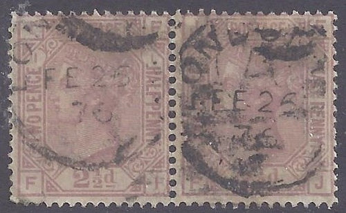 Great Britain scott #66 Used pair