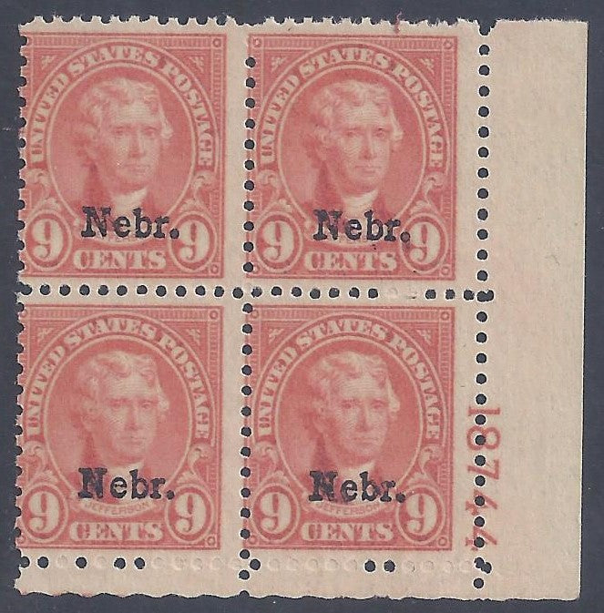 Scott #678 Mint plate block of 4