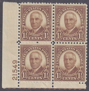 Scott #684 Mint plate block of 4