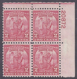 Scott #717 Mint Plate block of four