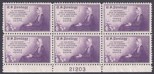 Scott #738 Mint plate block of 6