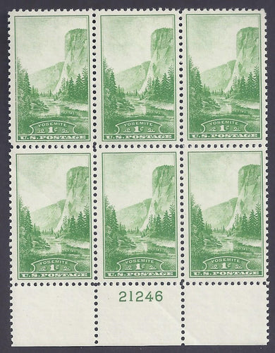Scott #740 Mint plate block of 6