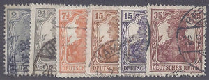 Germany scott #96-101 used complete set