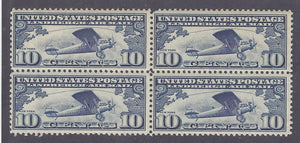 Scott #C10 Mint NH OG VF Block of Four