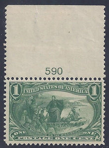 Scott #285 Mint NH OG VF with plate #