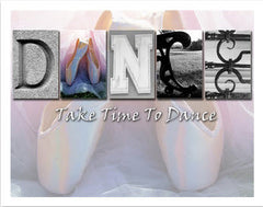 Dance Word Art Poster Board 11x14