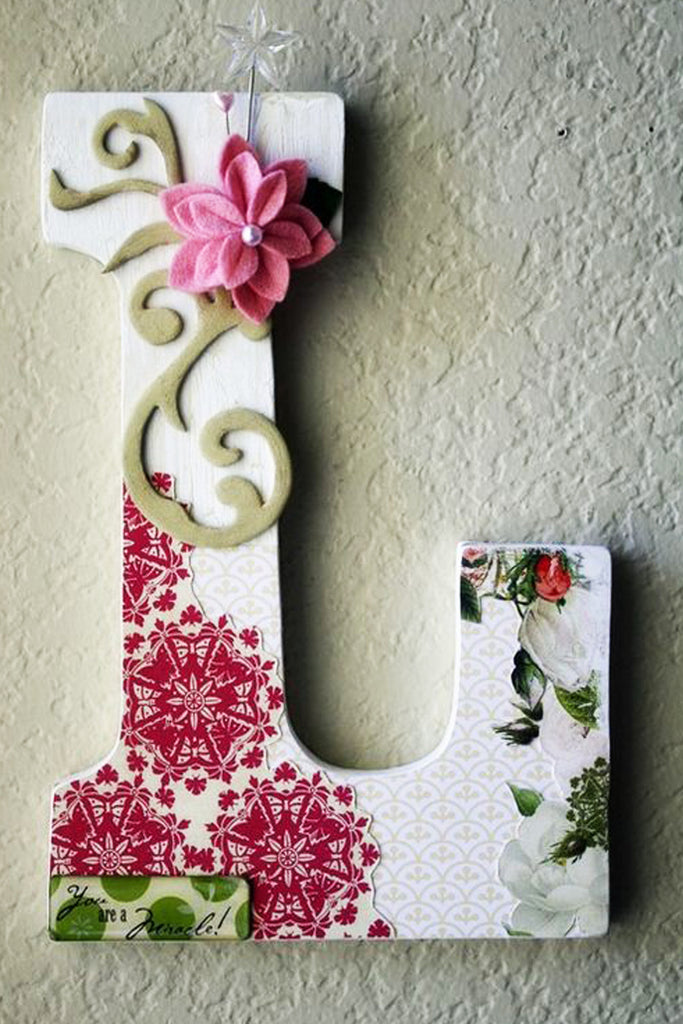 L 46 Word Art By Christini Letter Photography Art Flower