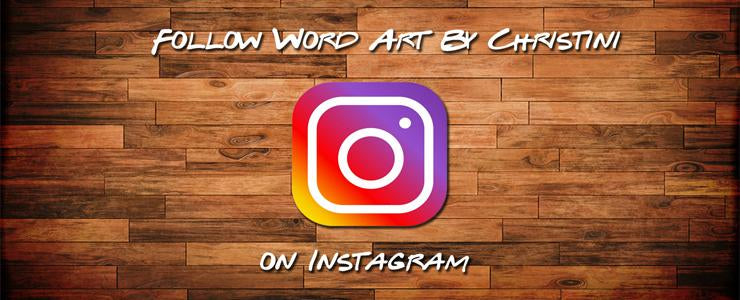 Word Art Instagram Page