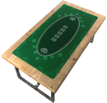 Load the picture into the gallery viewer, poker mat 180x90 cm, square - casino design -