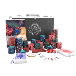 """Poker case with 300 clay poker chips """"Corrado"""" without values"""