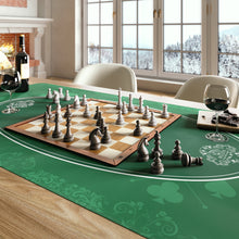 Load the picture into the gallery viewer, universal tablecloth for parlor, board and card games, green, 80 x 80 cm