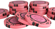 """Load the picture into the gallery viewer, poker case with 500 clay poker chips """"Corrado"""" without values"""