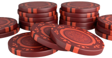 "Load the picture into the gallery viewer, poker case with 300 clay poker chips ""Corrado"" without values"