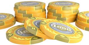 """Clay Poker Chips """"Tony"""" with Values - Roll of 25"""