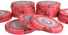 """Load the picture into the gallery viewer, Clay Poker Chips """"Tony"""" with values - roll of 25"""