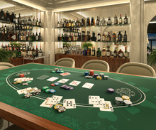 """Load the picture into the gallery viewer, poker mat 80x80 cm, square, green, designer """"Heads-Up"""""""