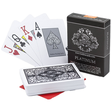 "Load the picture into the gallery viewer, plastic poker cards ""Platinum"""