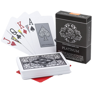 "Plastic poker cards ""Platinum"""
